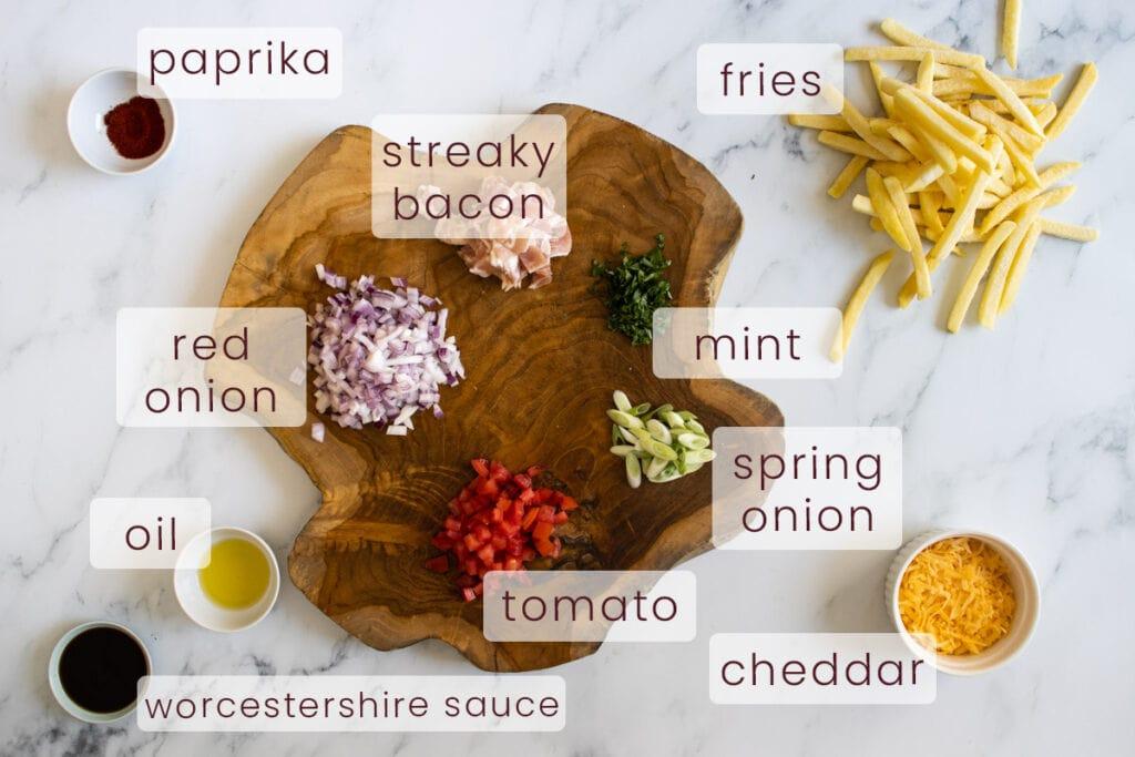 Dirty Fries Ingredients
