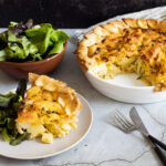 Homity Pie on a plate