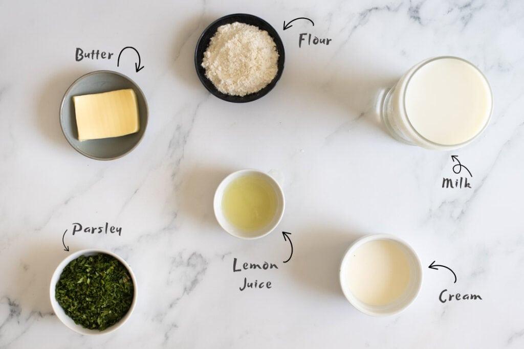 Parsley Sauce Ingredients