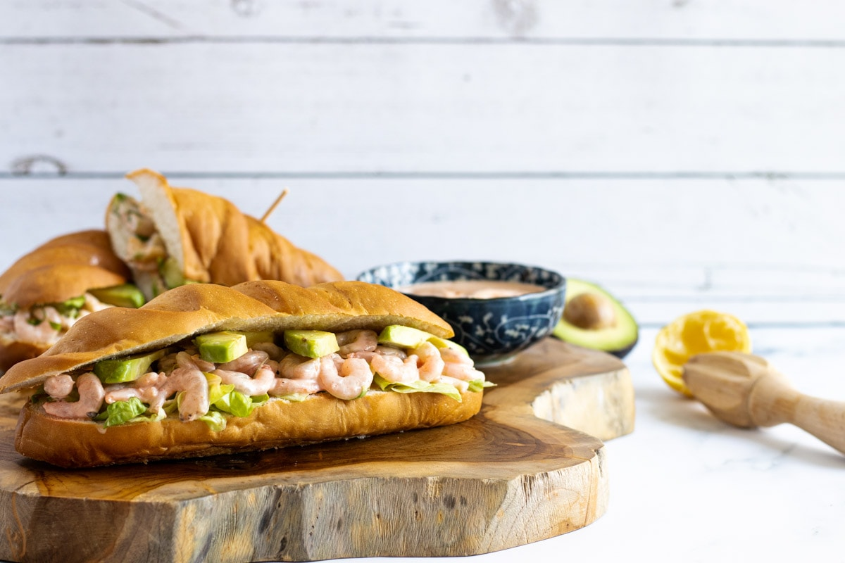 Prawn Sandwich with Marie rose sauce and juiced lemon
