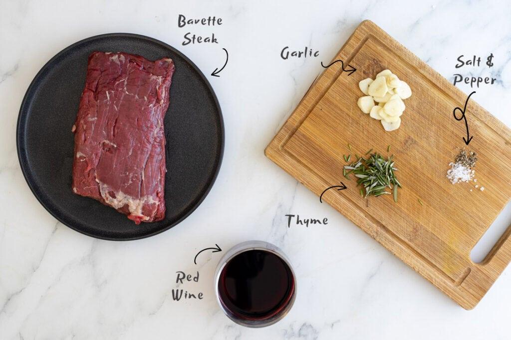 Bavette Steak Ingredients