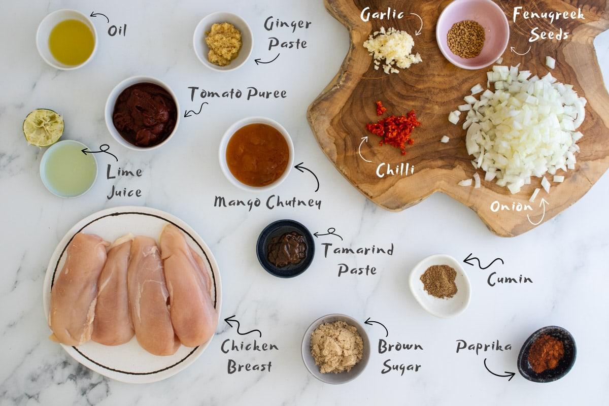 Chicken pathia ingredients