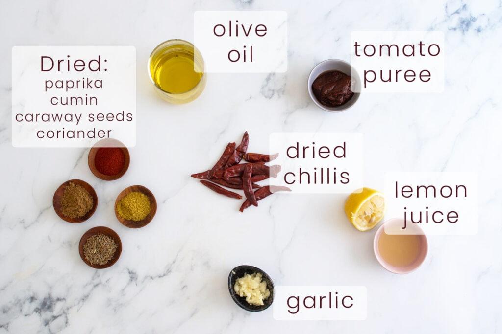 Harissa Paste Ingredients