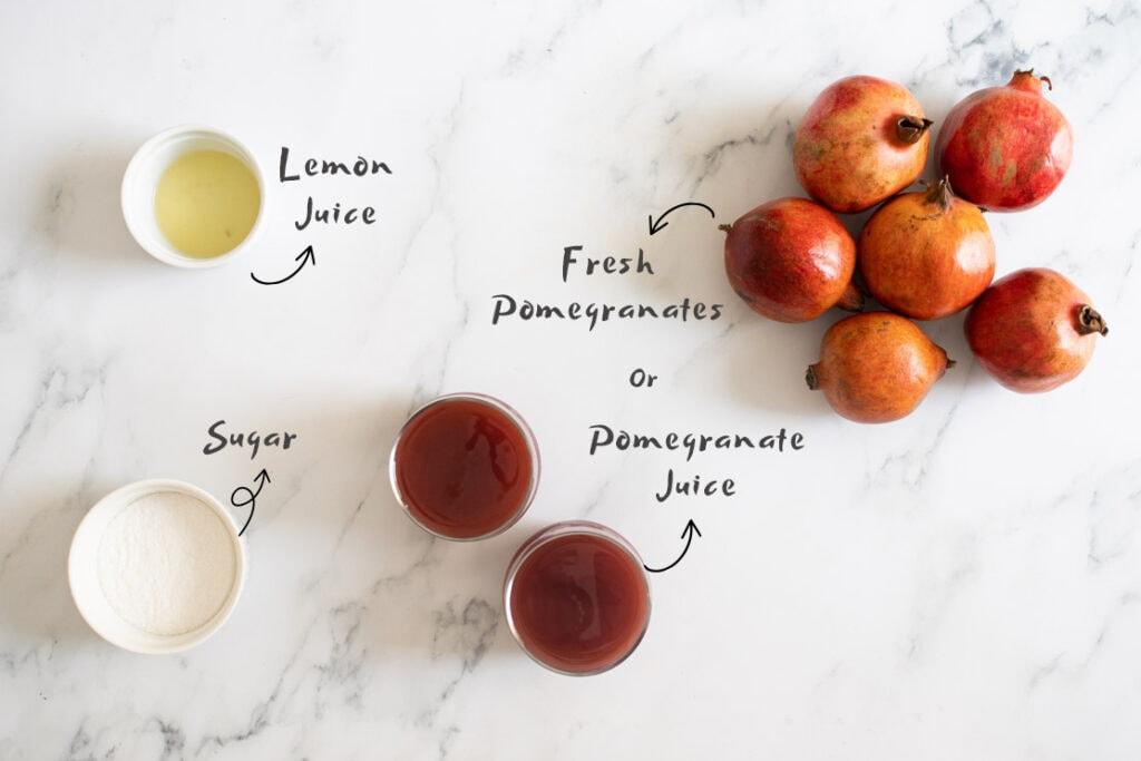 Pomegranate Molasses Ingredients