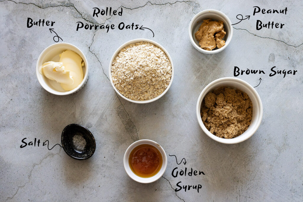 Peanut Butter Flapjacks Ingredients