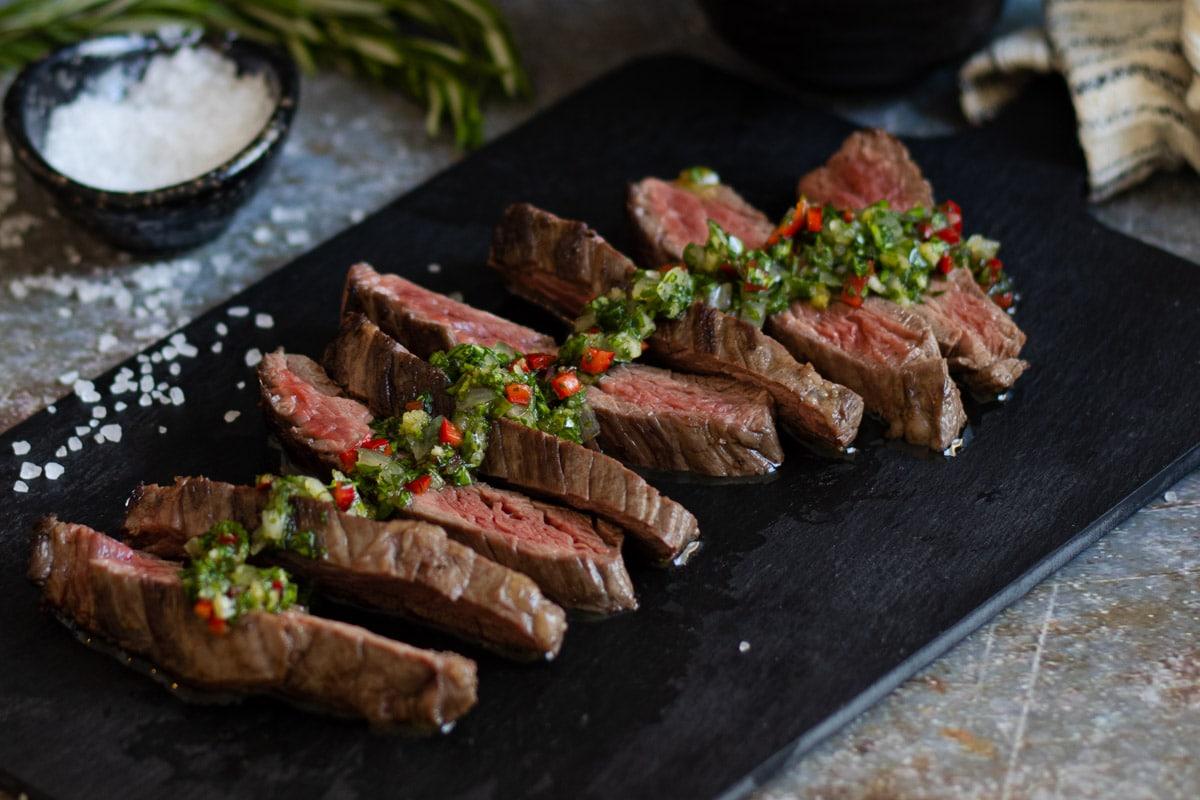 Bavette steak recipe with sauce